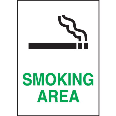 Graphic No Smoking Signs - Smoking Area