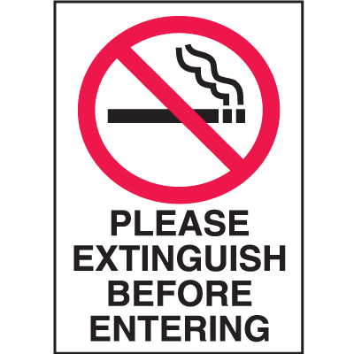 N Is For No Smoking...please