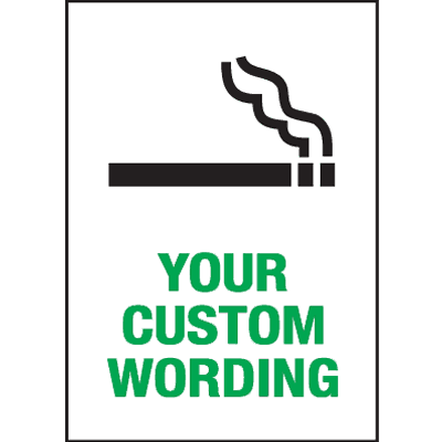Custom Industrial Graphic Smoking Signs - (Choose Your Own Wording)