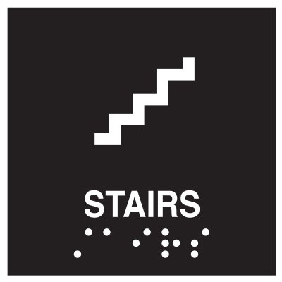 Stairs Braille Signs - Injection Molded Signs