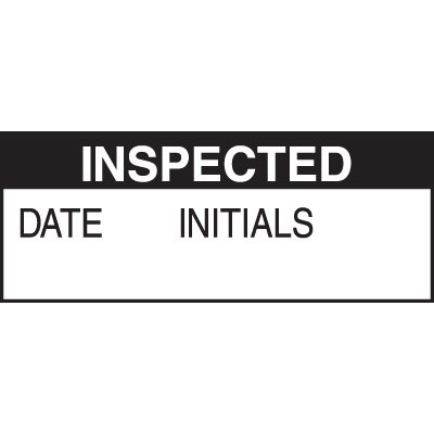 Inspected Write on Labels