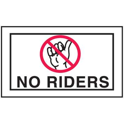 Instructional Labels - No Riders