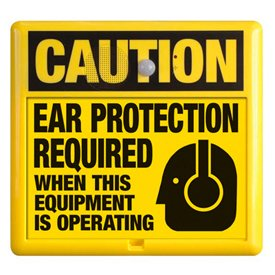 Interactive Sign Insert - Ear Protection
