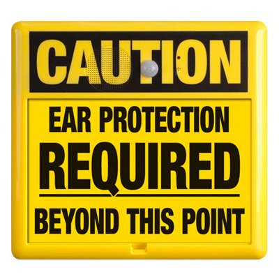 Interactive Sign Insert - Ear Protection Required
