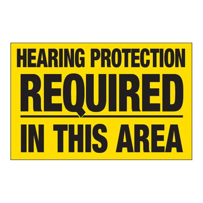 Interactive Sign Insert - Hearing Protection Required