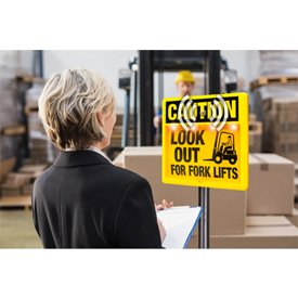 Interactive Sign Insert - Look Out For Forklifts