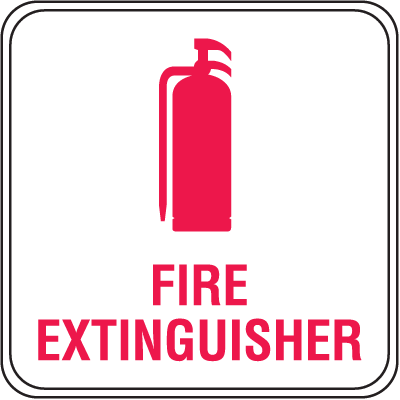 Interior Decor Fire Safety Signs - Fire Extinguisher