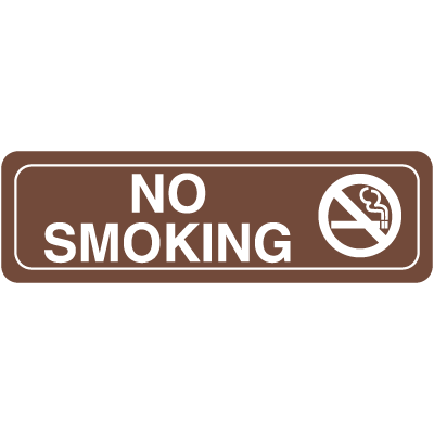 "No Smoking w/Graphic - 10""W x 3""H Decor Signs"