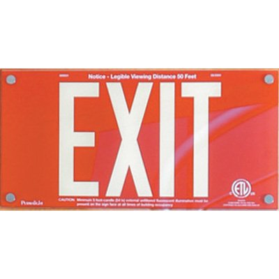 American Permalight Photoluminescent UL924 Acrylic Exit Sign