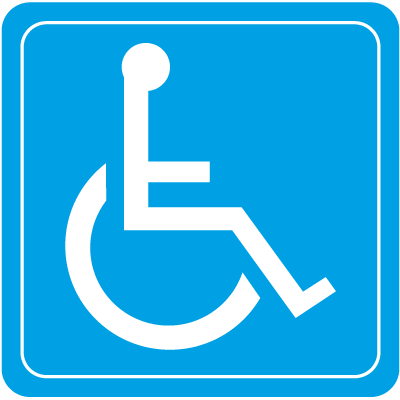 Wheelchair Symbol Interior Sign