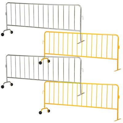 Interlocking Crowd Control Barriers With 1 Wheel & 1 Flat Foot