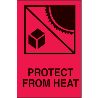 International Shipping Labels-  Protect From Heat