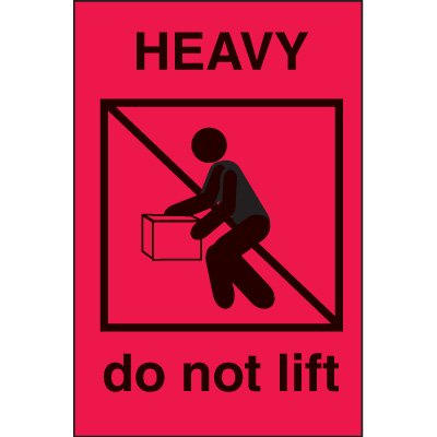 International Shipping Labels- Heavy Do Not Lift