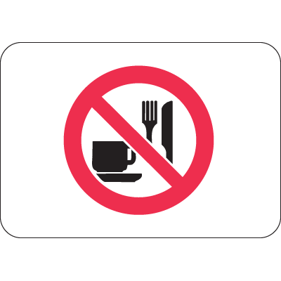 International Symbols Signs - No Eating or Drinking
