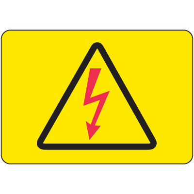 International Symbols Signs - High Voltage