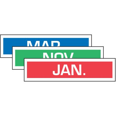 Monthly Inventory Labels