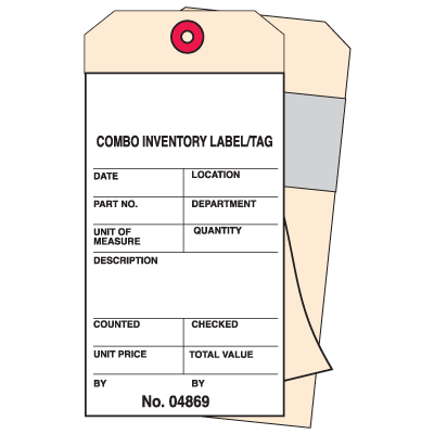 2-Part Carbonless Combo Inventory Tags