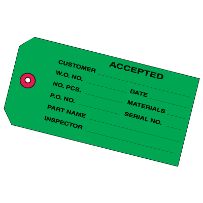 Accepted Inventory Tags