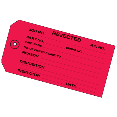 Rejected Inventory Tags
