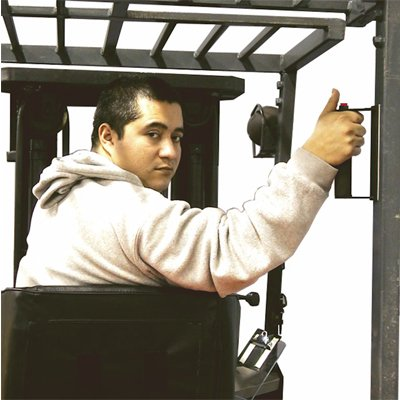 IRONguard™ Ergonomic Forklift Back-Up Handle With Horn, Hard Wired
