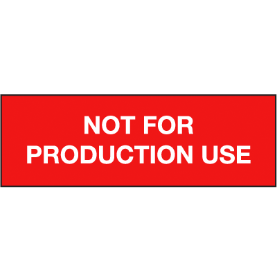 Production Use ISO Status Signs