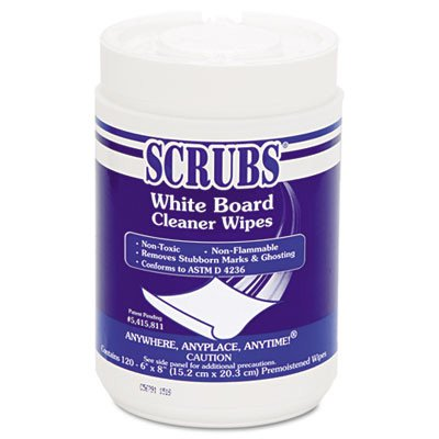 ITW Dymon® SCRUBS® White Board Cleaner Wipes ITW90891