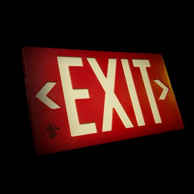 Glo Brite® 50 or 100-ft Zero Energy Photoluminiscent Exit Signs 7052-B