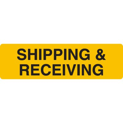 Shipping & Receiving Jumbo Loading Dock Signs