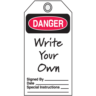 Jumbo Safety Tags - Danger Header Only
