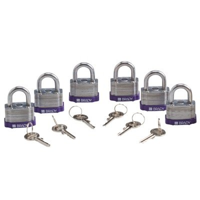 Brady® Key Retaining Keyed Different Steel Padlocks