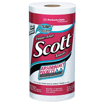 Kimberly-Clark® Professional SCOTT® Kitchen Towel Rolls with ABSORBENCY POCKETS*