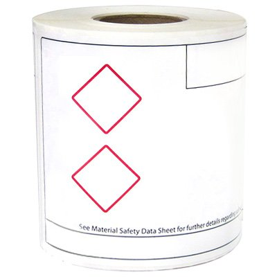 LabelTac® LT24GHS2 Label - Red on White
