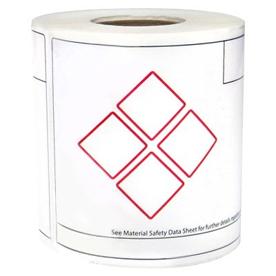 LabelTac® LT46GHS4 GHS Die-Cut Regulatory Labels - Red on White