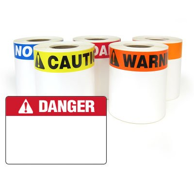 LabelTac® LT35DANGB Pre-Printed Header Die-Cut Labels - Danger