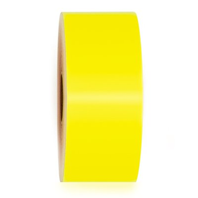 LabelTac® LT619-C Premium Vinyl Printer Label - High Visibility Yellow