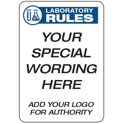 Laboratory Rules  - Custom School Safety Signs