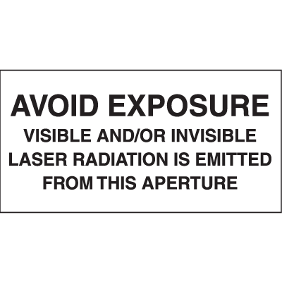 Laser Equipment Warning Labels - Laser Radiation Is Emitted From This Aperture