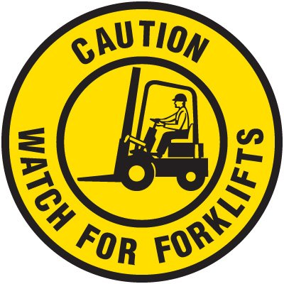 Lexan Heavy Duty Floor Markers-Caution Watch For Forklifts
