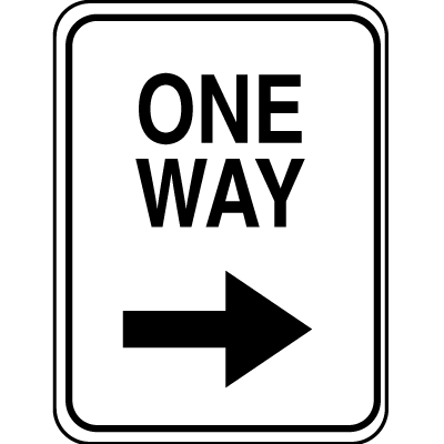 Lightweight Parking Signs - One Way