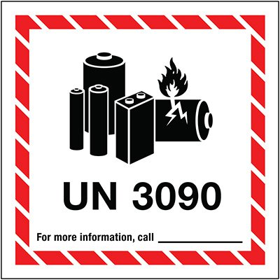 Lithium Battery Label UN3090