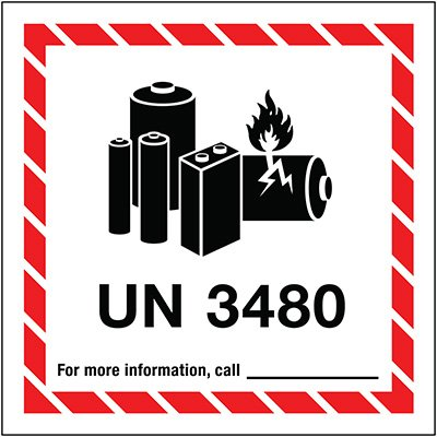 Lithium Battery Label UN3480