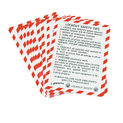 Lockout Safety Tips - Bilingual Lockout Safety Wallet Cards