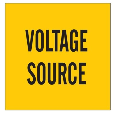 Brady Lockout Sign - Voltage Source - Part Number - 60161 - 1/Each