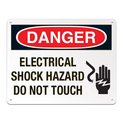 Lockout/Electrical Signs - Electrical Shock Hazard Do Not Touch