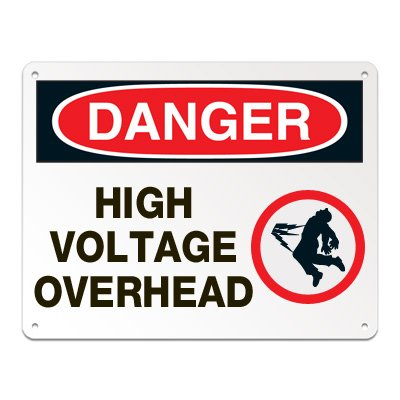 Lockout/Electrical Signs - High Voltage Overhead