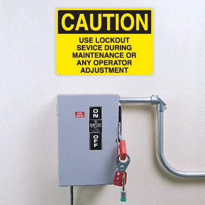 Lockout Signs - Use Lockout Service During Maintenance
