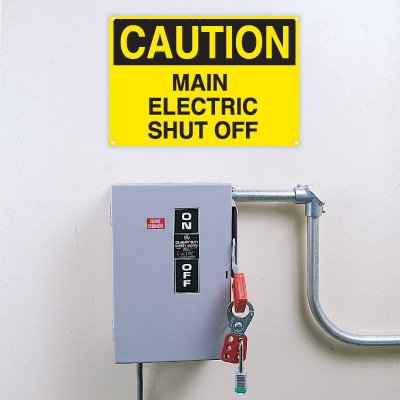 Lockout/Electrical Signs- Main Electric Shut Off