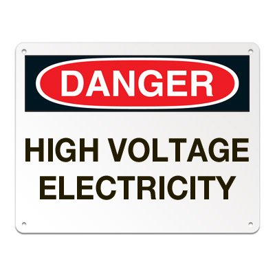 Lockout/Electrical Signs - High Voltage Electricity