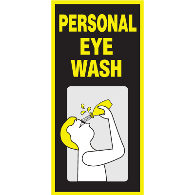 Luminous Personal Eyewash Sign