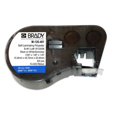 Brady M-126-461 BMP53/BMP51 Label Cartridge - White
